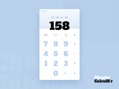 Calculator - Daily UI Challenge