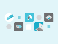 Icon designs for finance article