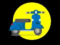 Scooter illustration