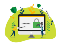 Internet security illustration