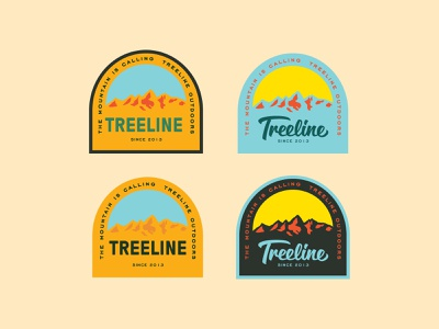 4 little badges badges mountains fishing outdoors