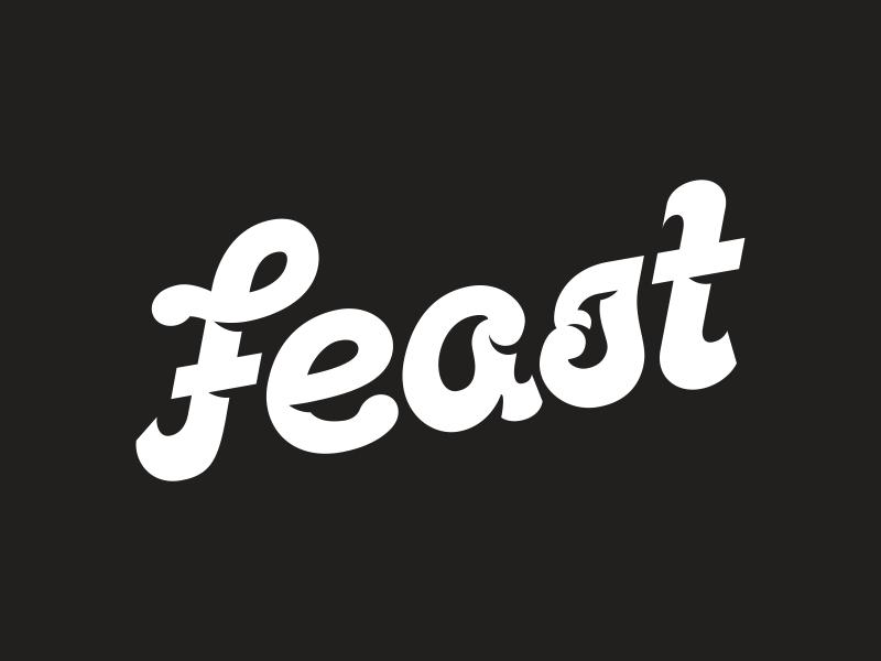 New Logo  f lettering typography logotype logo feast