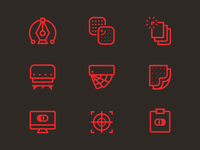 Screen Print Icon Set