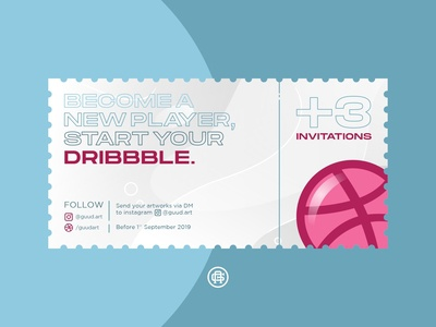 3 Dribbble Invitations For You