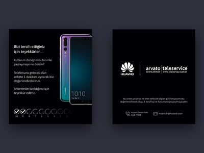 Huawei Survey Card guide graph design android p20 card survey huawei