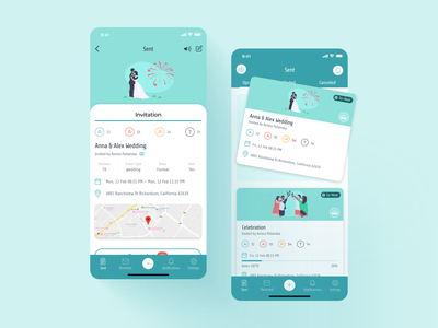 Design for App party events application figma app design interface ux app design ui