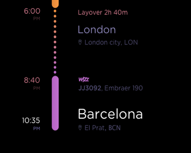 Flyapp travel framer scroll cards calendar plane tickets animation flight ux mobile app