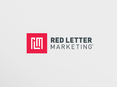 red letter marketing logo by olaf ebert - dribbble