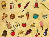 Food Love Pattern