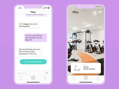 Workout companion app