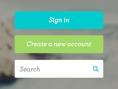 User Buttons sketch typography ui buttons sign in create green blue search icon interface