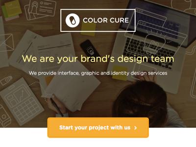 Color Cure Website Design typography type web design ui ui design logo identity design studio interface branding