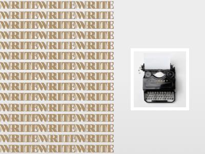 Write Write Experiment typography type layout font write design photo typeface