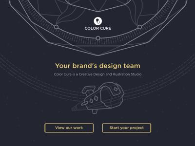 Color Cure Design Studio Website ui design website web design space illustration studio