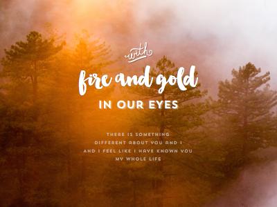 Fire And Gold sketch app design type design type music lyrics brushscript typography