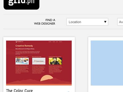 gridPH Interface philippines interface design gallery listing minimal