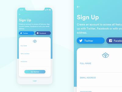 Sign Up Screen iphonex sign up dailyui001 dailyui sketch form ui design mobile app