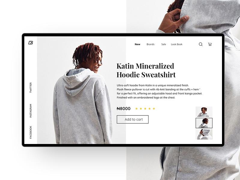 Online shopping UI Exploration lagos website web ux ui product fashion ecommerce