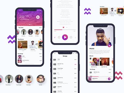 Traffic Music App fixer design ux ui wizkid lagos iphonex ios music adobexd app artist