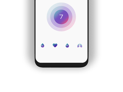 Vital icons gradient monitoring circle 3d after effects ux vector pulse aep ae icons icondesign ui design healthcare health app vitals animation design camera