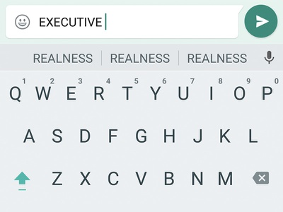 Category is... executive realness drag minimal keyboard ui messaging whatsapp google material material design
