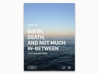 Birth, death, and not much in-between