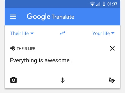 Google Translate your life ui translate minimal material design material life google flat existential crisis awesome