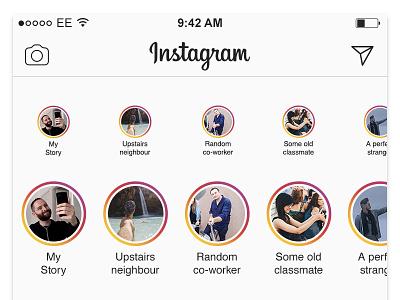 Stories now have Stories meta ui photo story selfie apple ios flat instagram stories
