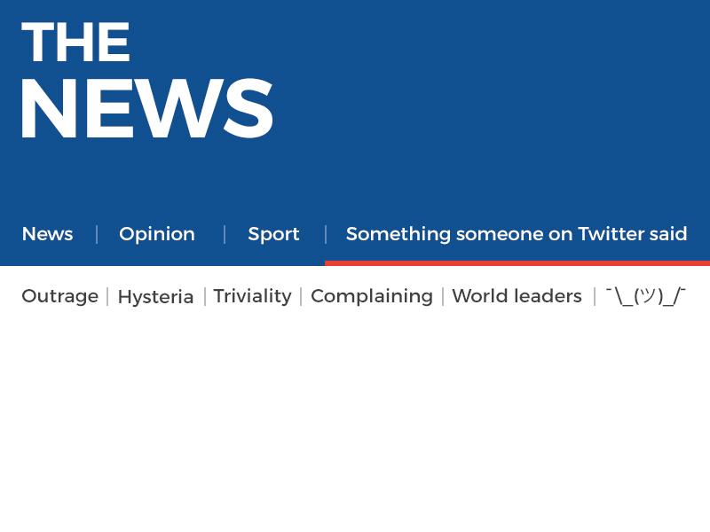 The News blackui flat twitter news satire minimal typography