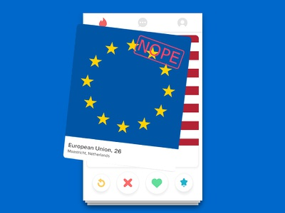 UK swipes left on EU ui uk eu swipe tinder app design app
