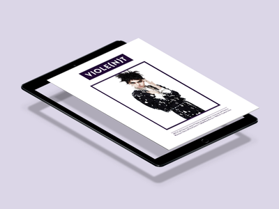 Viole(n)t Magazine music punk violet purple ipad design cover editorial magazine violent