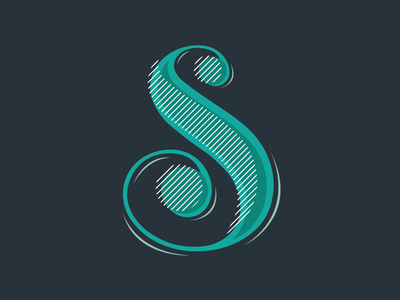 Typefight green blue design type typography hand lettering s letter typefight