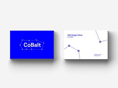 CoBalt Business Cards design typography logo cards business cobalt