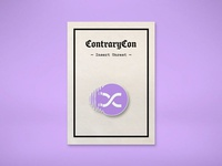 ContraryCon Enamel Pin