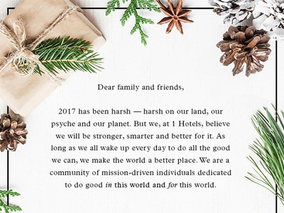 Holiday Email flat lay holiday bespoke design typography social mailer hotel email