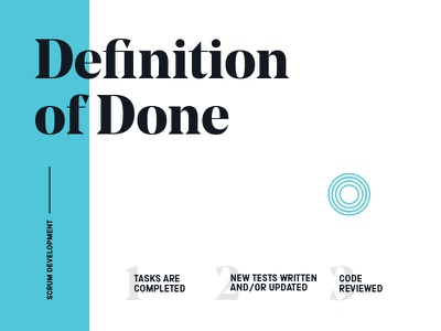 Definition of Done product design poster typography development agile scrum