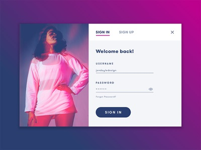 Daily UI 001 daily ui 001 ui daily 001 daily ui challenge interaction gradient purple design modal sign up daily ui