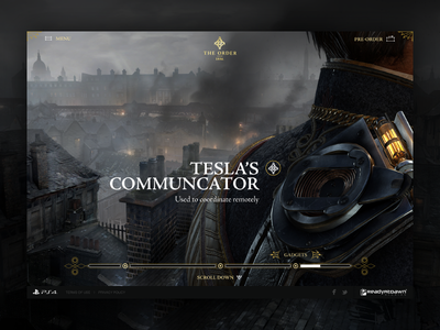 The Order 1886 website web ui the order 1886 ps4 playstation navigation landing page game debut