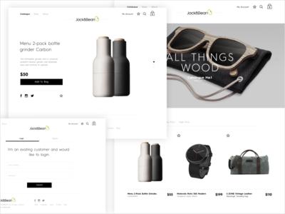 Jack & Bean web design ux icon design ui design graphic design website art direction store shop ecommerce
