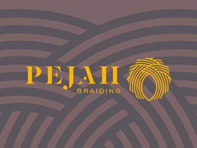 Pejah Braiding Rebranding logo logo mark color logotype color shapes color palette branding project identity brand