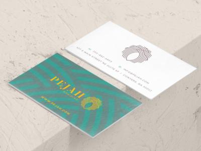 Pejah Braiding Rebranding logo logo mark color logotype color shapes color palette branding project business card identity brand