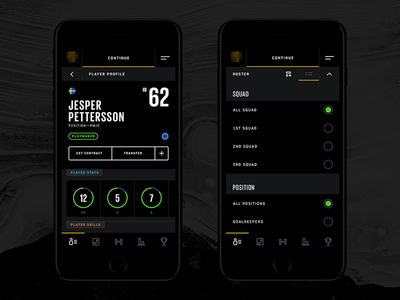 Fantasy Manager App interface infographics flat app ux ui mobile manager fantasy sports game hockey