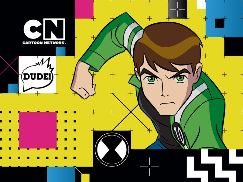 Cartoon Network grid design pattern cartoon network icon branding vector illustration design identity color shapes color palette branding project