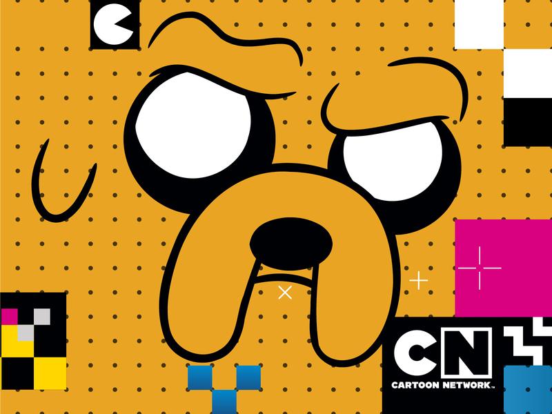 Cartoon Network grid design pattern pattern design illuatration icon icon artwork cartoon network color palette color shapes branding project design