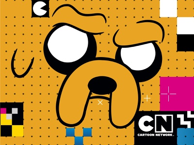 Cartoon Network grid design pattern pattern design illuatration icon icon artwork cartoon network color palette color shapes branding project design