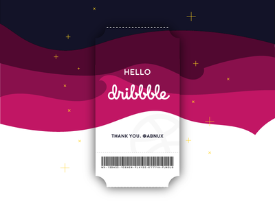 Hello Dribbble! ticket first shot debut