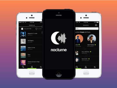 Nocturne - the easiest way to manage your music recommendations concept app music