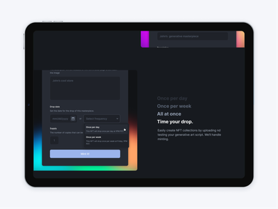 Landing page features gradient feature blockchain solana defi crypto landing page