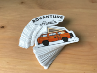 Advanture Awaits Stickers