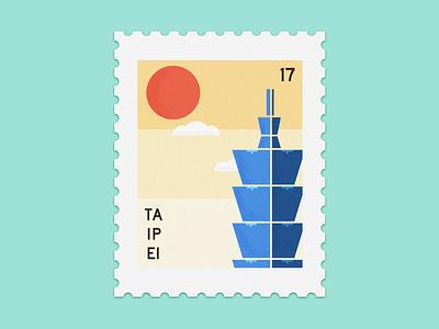 Taipei Stamp taiwan illustration taipei stamp